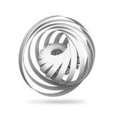 Abstract digitaal voorwerp, ronde 3d spiraalvormige structuren Royalty-vrije Stock Afbeeldingen
