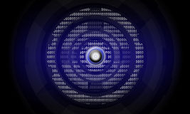Abstract digital. Power button on the imagination of the digital age Royalty Free Stock Image