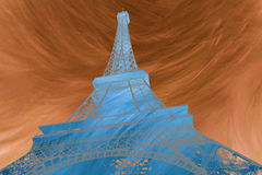 Abstract digital art of Eiffel Abstract digital art of Eiffel Tower in Paris. Silhouette. Postcard, high resolution Royalty Free Stock Photography