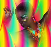 Abstract digital art image of a woman. Royalty Free Stock Photo
