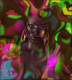 Abstract digital art image of a woman's face Royalty Free Stock Image