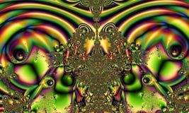 Abstract digital artwork. Subject liquids and metal. stock illustration