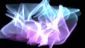 Abstract Digital Aurora Effect Computer Graphic rendered on Black background stock footage