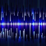 Abstract digital bacground.Motion blue vertical lines. Raster eq. Ualizer Royalty Free Stock Images
