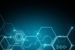 Abstract digital background. Abstract glowing digital background. Technology, innovation and future concept. 3D Rendering Royalty Free Stock Image