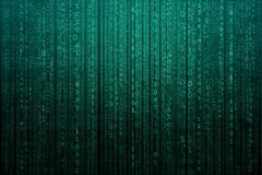 Abstract digital background with binary code. Hackers, darknet, virtual reality and science fiction. Abstract digital background with binary code. Hackers stock illustration