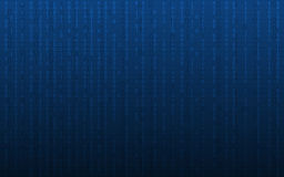 Abstract digital background with binary code pattern on dark blue color. Digital background with binary code pattern on dark blue color Royalty Free Stock Photography