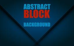 Abstract digital background. Blue block. Vector illustration EPS 10 Stock Image