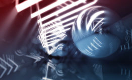 Abstract digital background, blue tunnel Stock Photos