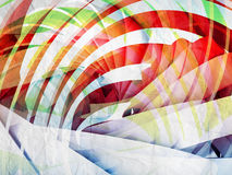 Abstract digital background with colorful 3d spiral. Structures over old paper texture Royalty Free Stock Photography