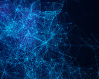 Abstract digital background with cybernetic particles Royalty Free Stock Photo