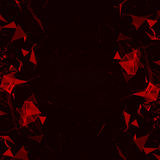 Abstract digital background with cybernetic particles Royalty Free Stock Image
