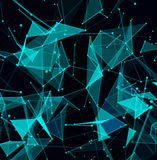 Abstract digital background with cybernetic particles Royalty Free Stock Photography