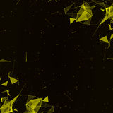 Abstract digital background with cybernetic particles Stock Photography