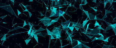 Abstract digital background with cybernetic particles Stock Photos