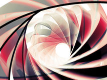 Abstract digital background with 3d red and black spiral. Structures Stock Images