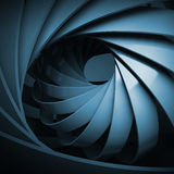 Abstract digital background with dark blue 3d spiral. Structure Vector Illustration