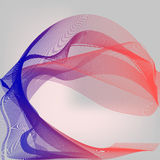 Abstract Digital Background with Flowing Red Blue Particle Waves. Internet or Technology Illustration Stock Images