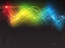Abstract digital background. Abstract glowing digital background with sparkling spectral waves stock illustration