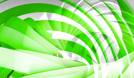 Abstract digital background with green 3d spiral Royalty Free Stock Image