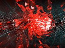 Abstract digital background, high-tech concept. Digital danger, 3d illustration stock illustration