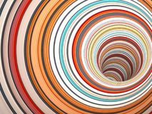 Abstract digital background pattern, tunnel 3d. Abstract digital background pattern, tunnel of colorful rings, 3d render illustration Royalty Free Stock Photo