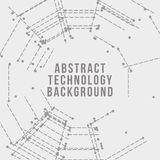 Abstract digital background. Technology background. Abstract digital illustration. Vector connection concept. Electronic round design. Modern abstraction lines Vector Illustration
