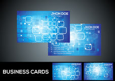 Abstract digital blue business card Royalty Free Stock Photos