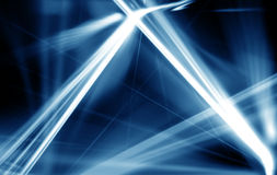 Abstract of digital bluel light laser line. blue background. Stock Photography