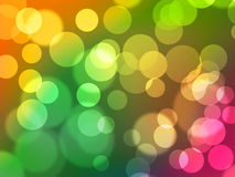 Abstract digital bokeh background. With light spheres and colourful gradient Stock Image