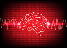 Abstract digital brain technology concept. illustration  d Stock Photography