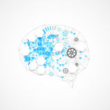 Abstract digital brain,technology concept. Stock Photos