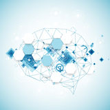 Abstract digital brain,technology concept. Stock Images