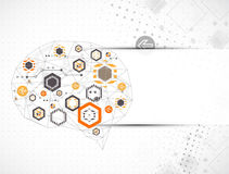 Abstract digital brain,technology concept. Vector royalty free illustration