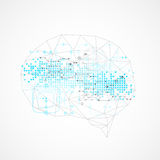 Abstract digital brain,technology concept. Royalty Free Stock Images