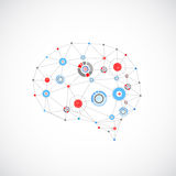 Abstract digital brain,technology concept. Royalty Free Stock Photography