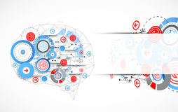 Abstract digital brain,technology concept. Vector Stock Images