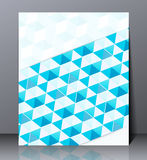 Abstract digital business brochure, geometric design in A4 size, Royalty Free Stock Images