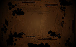 Abstract digital circuit grunge design background Royalty Free Stock Photo