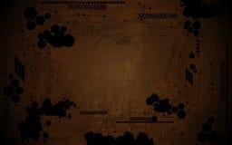 Abstract digital circuit grunge design background. EPS 10 Vector Vector Illustration