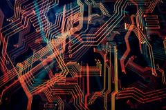 Digital circuit texture Stock Images