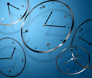 Abstract digital clocks Royalty Free Stock Photo