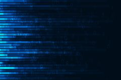 Abstract digital code visualization. Big data code representation. Stream of encoded data Stock Photos