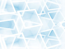 Abstract digital 3d background with chaotic cubes pattern. Abstract digital 3d white and light blue background with chaotic cubes pattern Royalty Free Stock Image