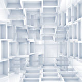 Abstract digital 3d background with chaotic white cubes Royalty Free Stock Photo