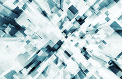 Abstract digital 3d background with cubes. Perspective pattern pattern and old concrete texture Vector Illustration