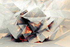 Abstract digital 3d chaotic polygonal background texture Royalty Free Stock Image