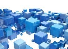 Abstract digital 3d cubes. Design background stock illustration
