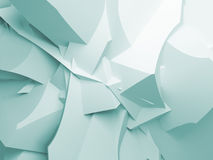 Abstract digital 3d curved chaotic polygonal surface Stock Images