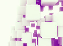 Abstract digital 3d illustration. Made of cubes Royalty Free Illustration